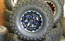 Golf Cart Wheels-Custom 22×11-10 Blue HD3 on Duro Deserts