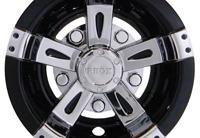 "8 "" Vegas, Chrome/ Black Wheel Cover $ 15.50ea."