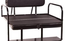 Ez-go Rear Flip-Down Seat Kit , Black, White and Tan $ 259.00