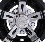 """8 """" Vegas, Chrome/ Black Wheel Cover"""
