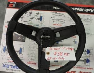 Italian Made Giazza Steering Wheel Club Car Precedent Only 52.95, EZ-Go is 38.95