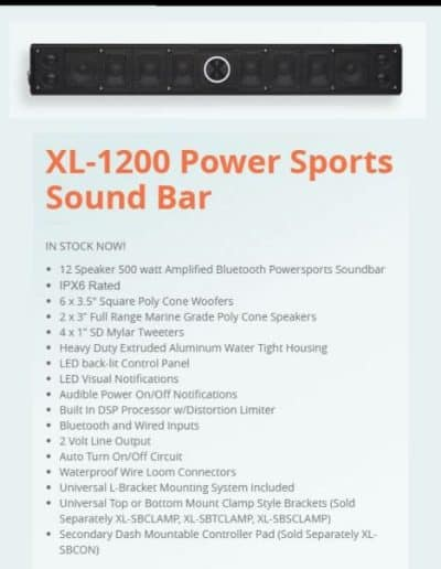 Powerbass XL-1200 Powersports Soundbar