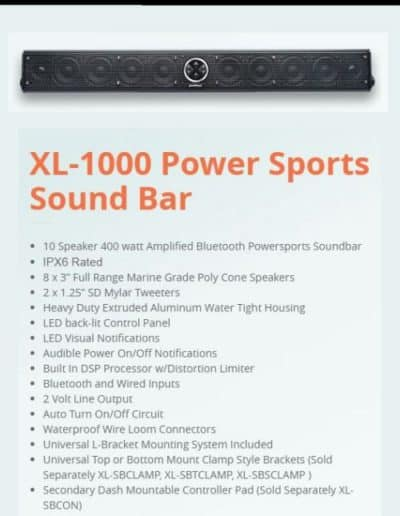 Powerbass XL-1000 Powersports Soundbar