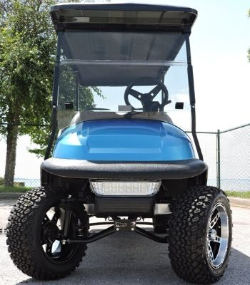 Club Car Precedent Limo with Custom Painted Body (Electric Blue) Front