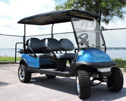 Club Car Precedent Limo with Custom Painted Body (Electric Blue)