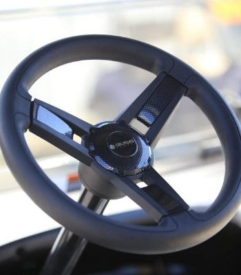 Club Car Precedent with painted body (High Octane)(Steering Wheel Detail)