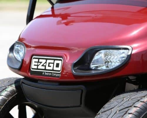 EZGO with Burgundy Painted Body (Grill)