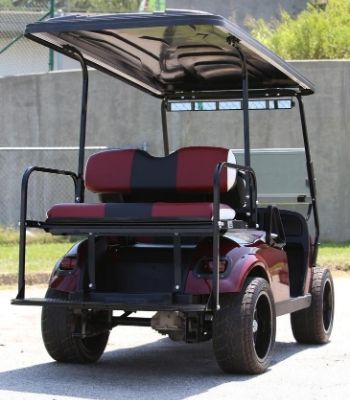 EZGO with Burgundy Painted Body (Rear)