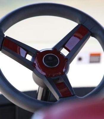 EZGO with Burgundy Painted Body (Steering Detail)