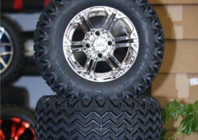 Specter Chrome Wheel on Predator All terrain tire
