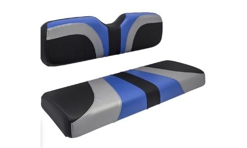 Golf Cart Black Gray and Blue Blade Seat Cover Assembly $399.95
