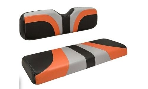 Golf Cart Black Gray and Orange Blade Seat Cover Assembly $399.95