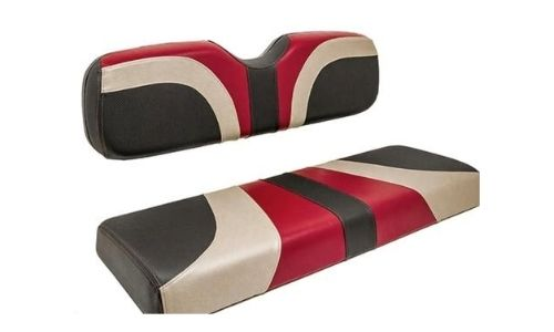 Golf Cart Black Gray and Orange Blade Seat Cover Assembly