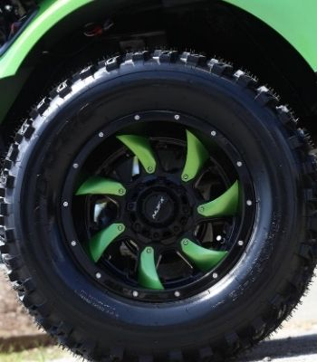 EZ GO Electric Pickle Wheel Detail